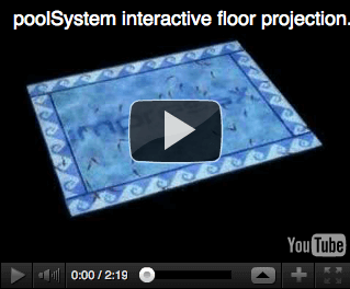 poolSystem interactive floor projection, youtube