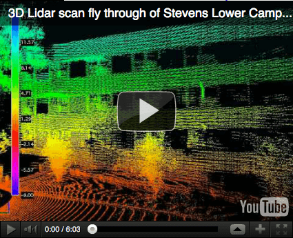 3D Lidar scan fly through of Stevens Lower Campus, youtube