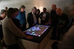 Der IRMAT-Spieltisch an der Eröffnung der Vera Oeri-Bibliothek, Hochschule für Musik Basel, FHNW 14.09.2009 Foto: Amadis Brugnoni