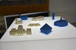 Die von den Schülern entworfenen und anschließend ausgedruckten 3-D-Modelle. Foto: IHK Ulm