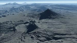 Vulkanlandschaft Kamtschatkas. Bild: Deutsches Zentrum für Luft- und Raumfahrt (DLR).