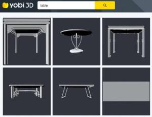 Screenshot Ansicht Suche auf Yobi3D.com