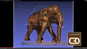 Erstmals erfassten Fraunhofer-Forscher in der Frankfurter Liebieghaus Skulpturensammlung Kulturartefakte automatisiert. Foto/Screenschot: Fraunhofer IGD