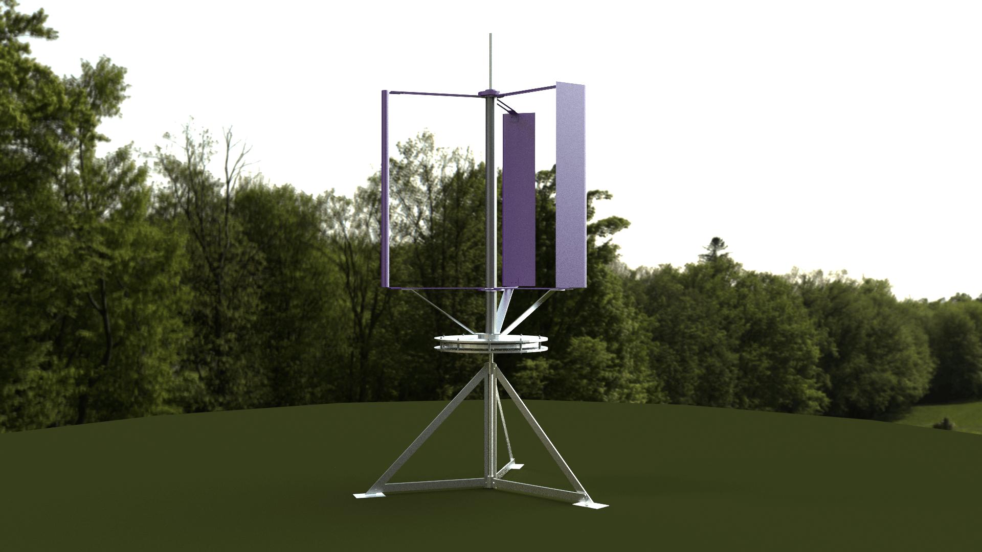 Modell einer mobilen Windturbine