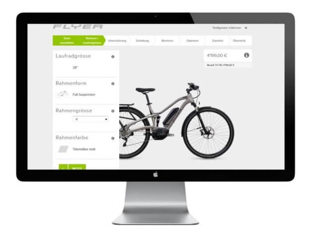 E-Bike Konfigurator von Flyer