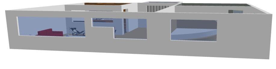 3D Raum Modell Mit 360 Grad Ansicht.