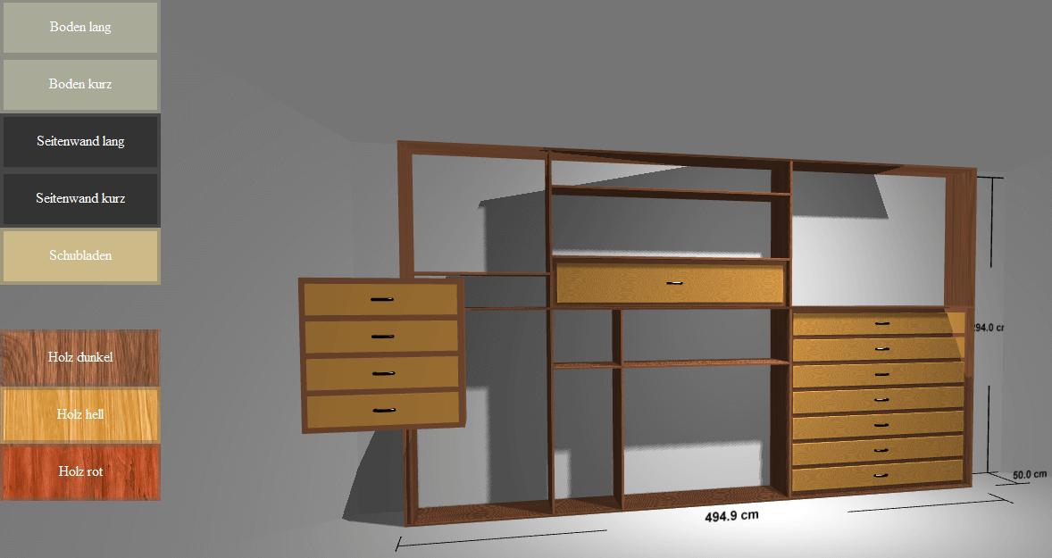 demo interaktive schrank pr sentation in live 3d 3d magazin. Black Bedroom Furniture Sets. Home Design Ideas