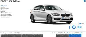 Online-Konfigurator von BMW (Quelle: Bmw.de)