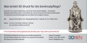 """Einladung_3D-Druck_""""Der Hohe Dom zu Köln"""""""