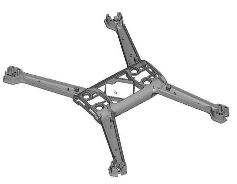 Die Struktur ist aus Windform GT (mit freundlicher Genehmigung von Parrot)